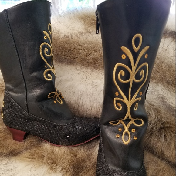 Disney Other - *SOLD* Disney Store Anna costume boots size 13-1